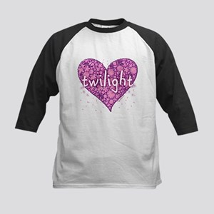 Twilight Retro Purple Heart with Flowers Kids Base