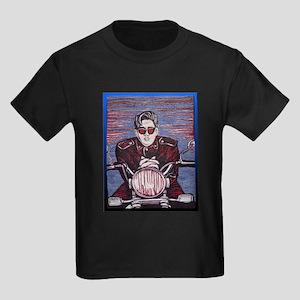 Vintage Biker Kids Dark T-Shirt