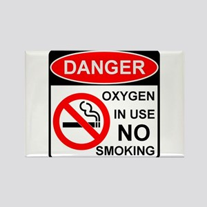 Oxygen in Use Rectangle Magnet