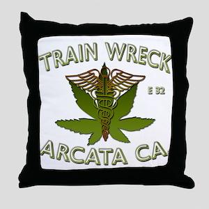 train wreck Throw Pillow
