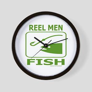 REEL MEN FISH Wall Clock