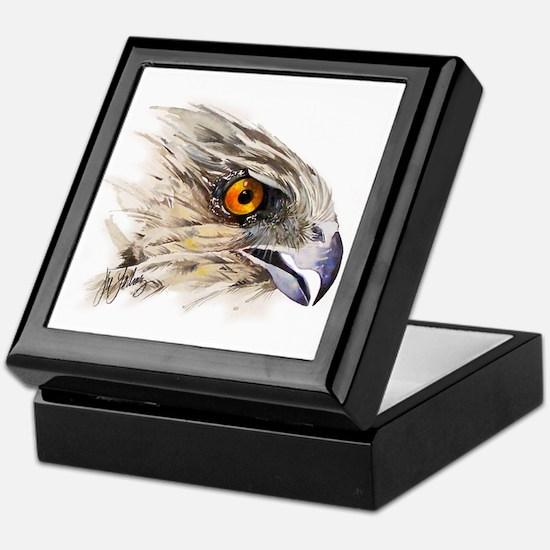 Cooper Hawk Face Keepsake Box