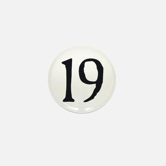 """""""19"""" v.2 (b/w) Mini Button"""