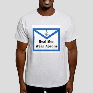Real Men Wear Aprons Light T-Shirt