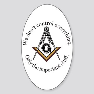 We don't control everything Sticker (Oval)