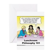 Lunchroom Philosophy Greeting Card