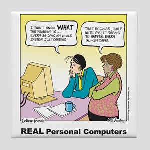 REAL Personal Computers Tile Coaster