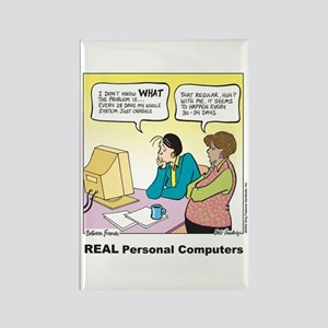 REAL Personal Computers Rectangle Magnet