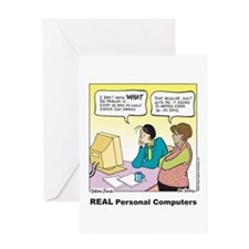 REAL Personal Computers Greeting Card