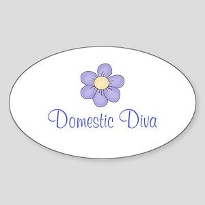 Domestic Diva Oval Sticker