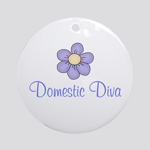 Domestic Diva Ornament (Round)