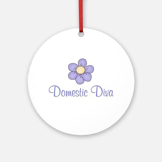 Domestic Diva Ornament (Round)