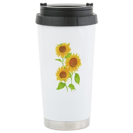 Sunflower Stainless Steel Travel Mug