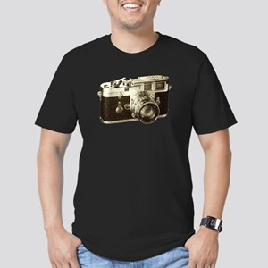 Retro Camera Men's Fitted T-Shirt (dark)