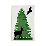 Maine Woods Rectangle Magnet (10 pack)