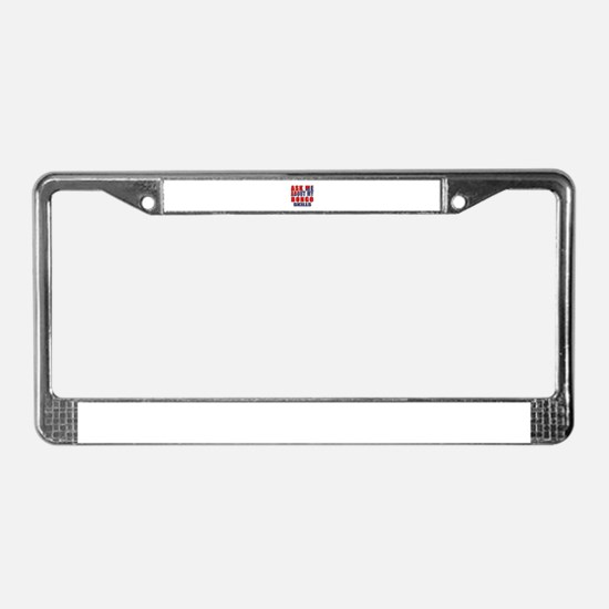 Ask About My bongo Skills License Plate Frame