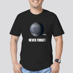 Never Forget Pluto Men's Fitted T-Shirt (dark)