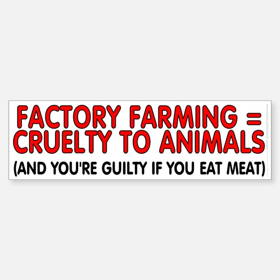 Factory farming Sticker (Bumper)