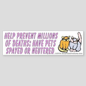 Help prevent millions... (bumper sticker 10x3)