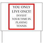 Funny sports and gaming joke Yard Sign