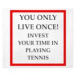 Funny sports and gaming joke King Duvet