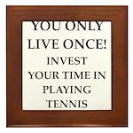 Funny sports and gaming joke Framed Tile