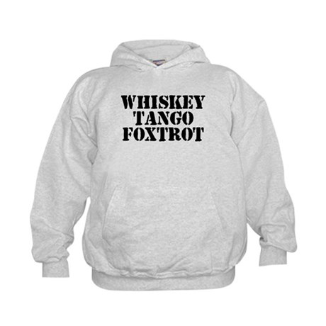 Whiskey Tango Foxtrot Kids Hoodie