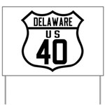 Route 40 Shield - Delaware Yard Sign