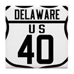 Route 40 Shield - Delaware Tile Coaster