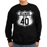 Route 40 Shield - Delaware Sweatshirt (dark)