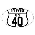 Route 40 Shield - Delaware Oval Sticker