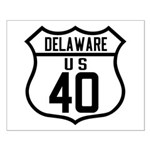 Route 40 Shield - Delaware Small Poster