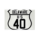 Route 40 Shield - Delaware Rectangle Magnet (100 p