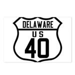 Route 40 Shield - Delaware Postcards (Package of 8