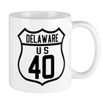 Route 40 Shield - Delaware Mug