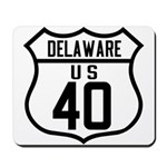 Route 40 Shield - Delaware Mousepad