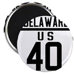Route 40 Shield - Delaware Magnet