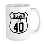Route 40 Shield - Delaware Large Mug