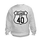 Route 40 Shield - Delaware Kids Sweatshirt