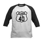 Route 40 Shield - Delaware Kids Baseball Jersey