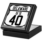 Route 40 Shield - Delaware Keepsake Box