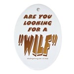WILF MAN Oval Ornament