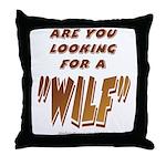 WILF MAN Throw Pillow