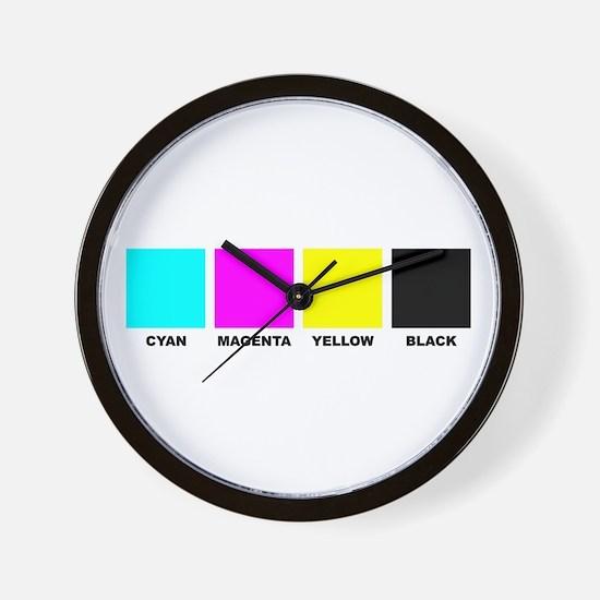 CMYK Four Color Process Wall Clock
