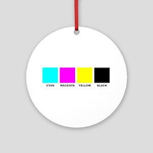 CMYK Four Color Process Ornament (Round)