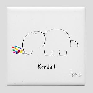 Kendall's Teddy the Elephant - Tile Coaster