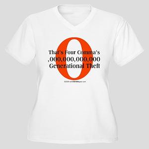 Generational Theft Women's Plus Size V-Neck T-Shir