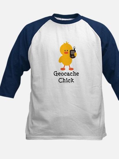 Geocache Chick Kids Baseball Jersey