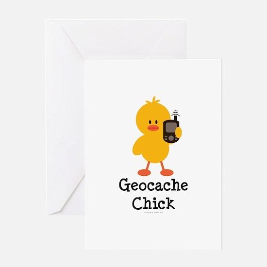 Geocache Chick Greeting Card