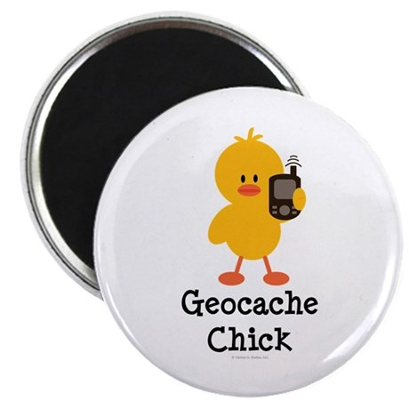 "Geocache Chick 2.25"" Magnet (100 pack)"